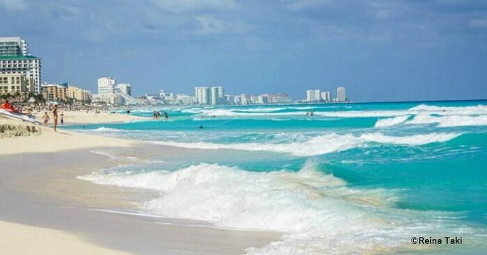Cancun beach playa marlin